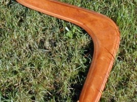photograph of a boomerang