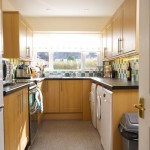 Image of Cosaig Self-Catering's kitchen showing appliances and cupboards