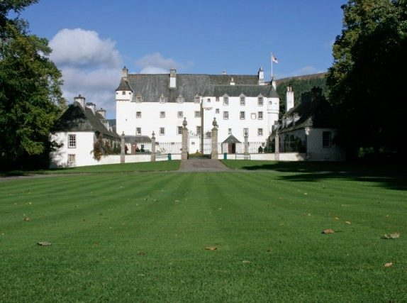 Image across lawn to front of Traquair House